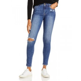 FRAME Women's Le High Rise Ripped Skinny Jeans in Saxon Saxon Jogger comfortable NGTA482