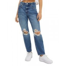 Good American Womens Good Vintage Straight Ripped Jeans in Blue691 Blue691 40 Year Old Regular TPZJ427