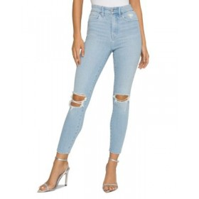 Good American Young Women's Good Waist Cropped Jeans Blue635 QPHS673