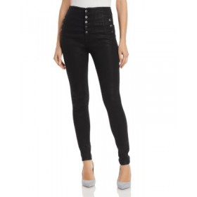 J Brand Women's Natasha Button-Fly Coated Skinny Jeans in Fearful Fearful Trending AGXS377