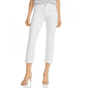 Jen 7 Young Women's Straight-Leg Ankle Jeans in White White 26 Inch Waist In Store QXER604