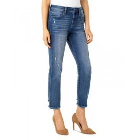 Liverpool Los Angeles Women's Cropped Straight Leg Jeans in Kennedy Kennedy the best OUHW139