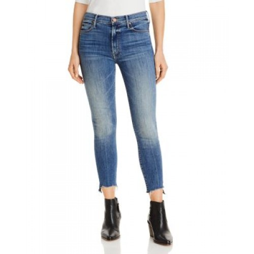 MOTHER Women's Stunner Side Skinny Ankle Jeans in Walking on Coals Walking On Coals 40 Year Old VMFW720