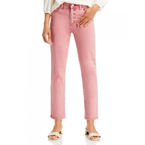 PAIGE Girl's Cindy Straight Button Fly Jeans in Soft Vintage Rose Vintage Soft Rose guide PIMY155