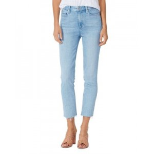 PAIGE Women's Cindy Raw Hem Straight Jeans in Park Ave Park Ave sale online MBBR685