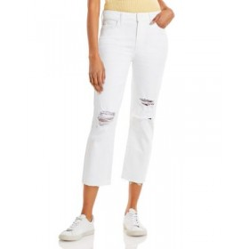 PAIGE Women's Hoxton Cropped Jeans in White Hot Destructed White Hot Destructed BZDL442