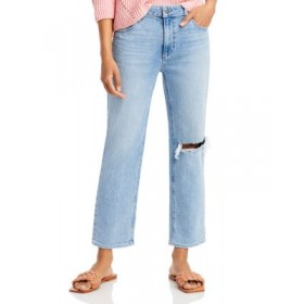 PAIGE Womens Noella High Rise Straight Jeans in Montague Destructed montague destructed DYOQ316