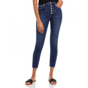 Pistola Girl's High Rise Button Fly Jeans Dark Blue Work Business Casual JAIR830