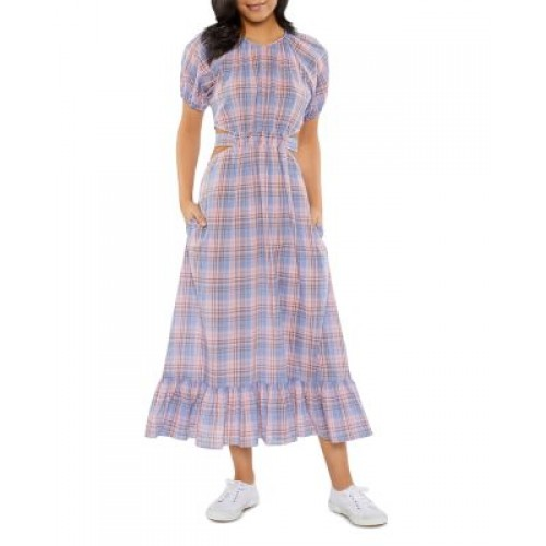 LIKELY Women Payson Tie Back Plaid Midi Dress LILAC SACHET MULTI For Special Occasions spring 2021 MGCA992