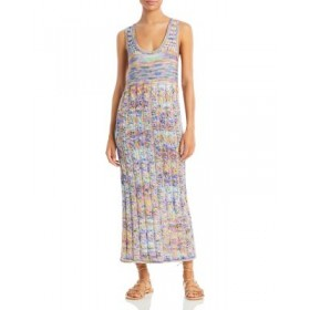 Ramy Brook Young Women's Olsen Rainbow Cable Knit Maxi Dress Multi online shopping NXES654