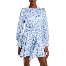 Alice and Olivia Young Women's Molli Printed Belted Dress FORGET ME NOT MULTI Evening Number 1 Selling PXXK477