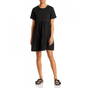 AQUA Young Women's Tiered Knit Dress - 100% Exclusive Black IWUM571
