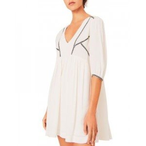 ba&sh Women's Alma Embroidered Mini Dress Off White Casual Recommendations OLRP318