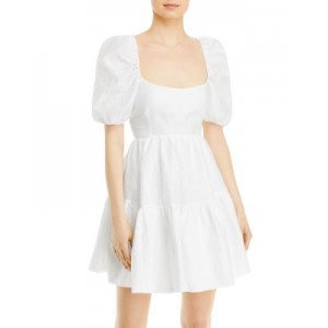 Bardot Young Women's Tiered Bow Mini Dress Orchid White Plus Size OINI140