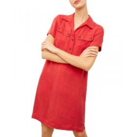Gerard Darel Women's Sassi Polo Shirtdress Red Clearance Sale USWT950