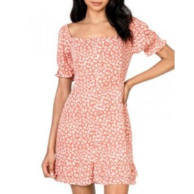 Lost and Wander Women Madison Printed Mini Dress Coral good quality GMSF973