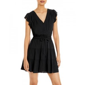 PAIGE Young Women's Rosalee Dress Black Casual Hot PLFN692