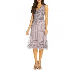 Adrianna Papell Young Women's Embellished Tulle Fit-and-Flare Dress - 100% Exclusive Vgardenia Petite KBIG417