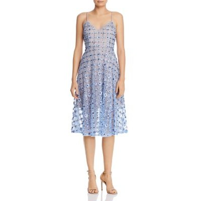 Aidan Mattox Women's Embellished Lace Dress Ice Perry Fall on clearance SFLW728