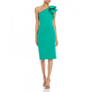 Eliza J Womens One-Shoulder Dress Green For The Over 40S Selling Well HJOD324